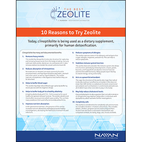 10 Reasons To Try Zeolite