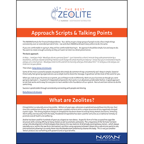 Approach Script And Talking Points